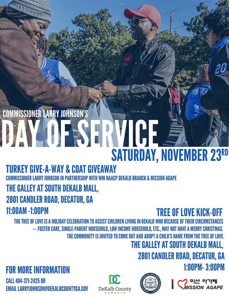 Day of Service – Commissioner Larry Johnson – November 23rd, 2019