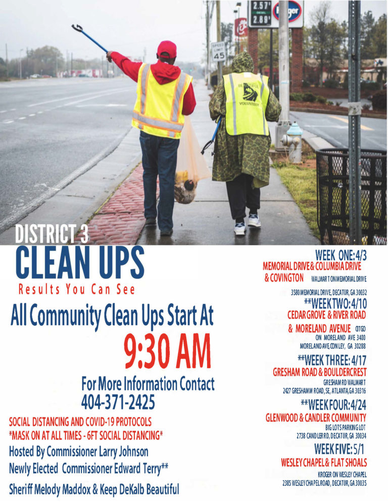 District 3 Community Clean Up